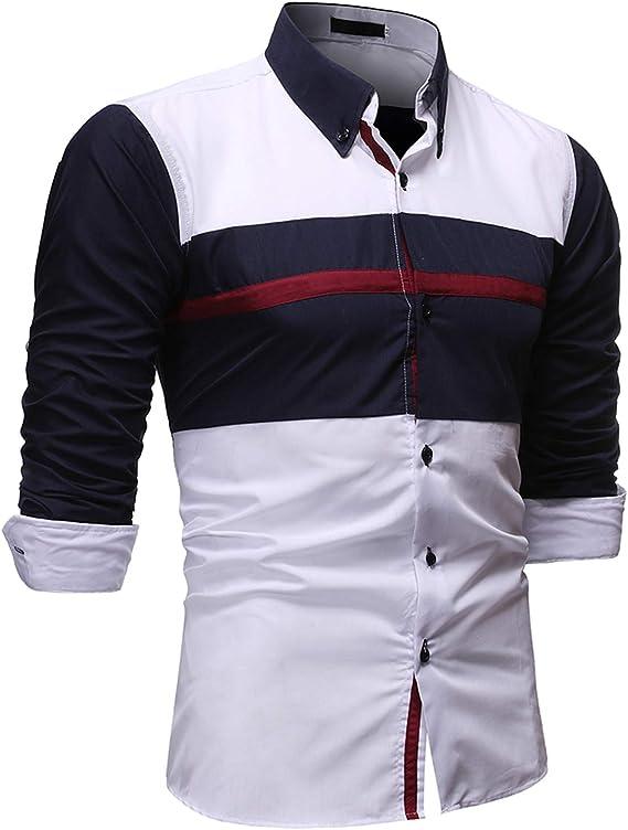 Mr.BaoLong&Miss.GO Camisas para Hombres con Combinación De ...