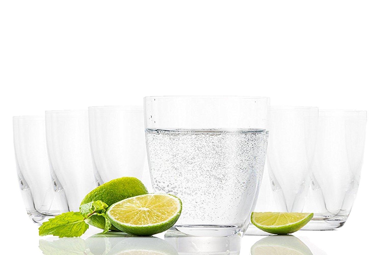 Tivoli Pasabahce Aqua Vasos de Agua / 285 ML/Conjunto de 6 / Gafas de Alta Calidad/Lavavajillas/ Vasos de Cristal