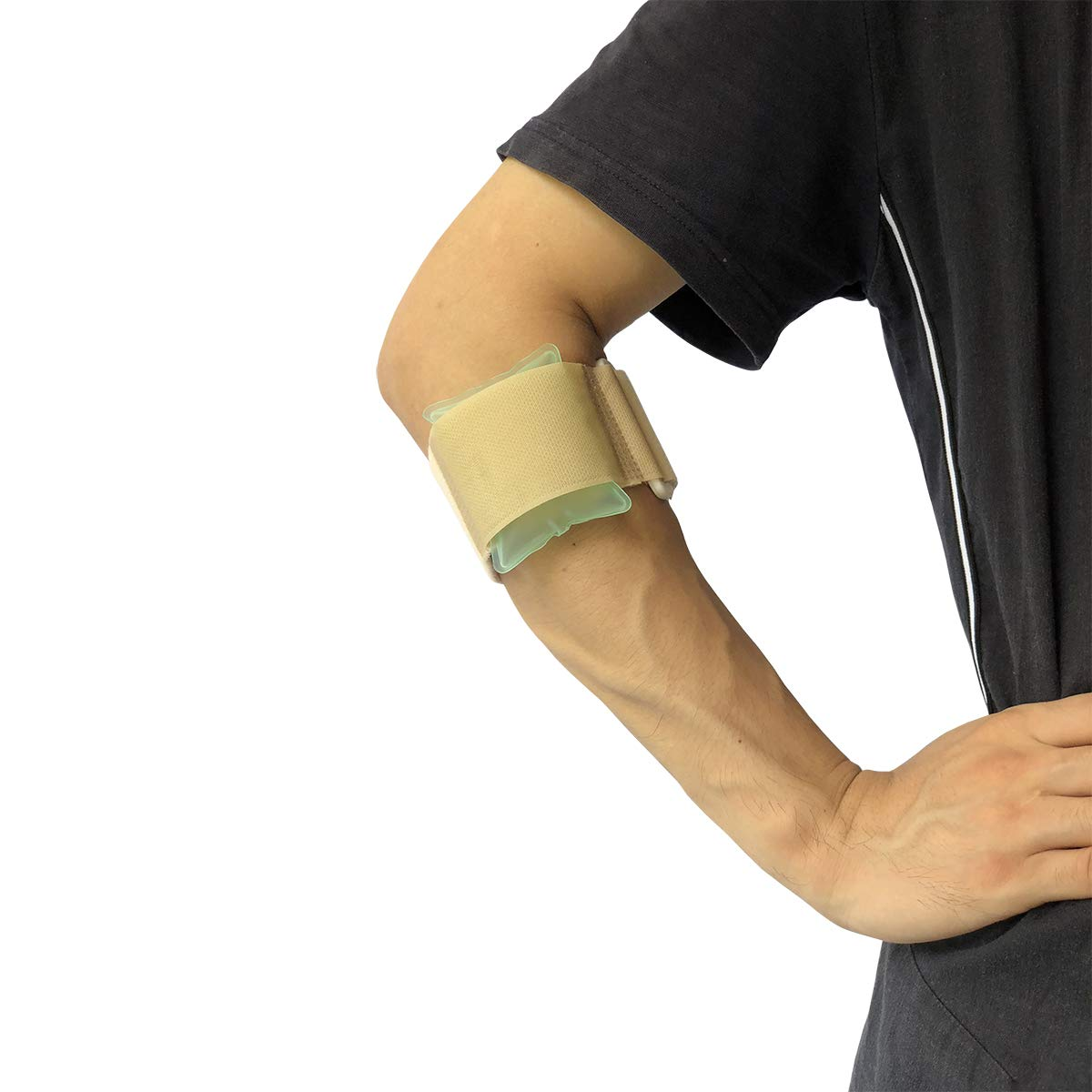 Orthomen Pneumatic Armband: Tennis/Golfers Elbow Support Strap - One Size Fits Most