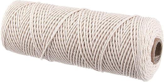 MYAMIA 220M Algodón Natural Cuerda Retorcida Cordón Manual ...