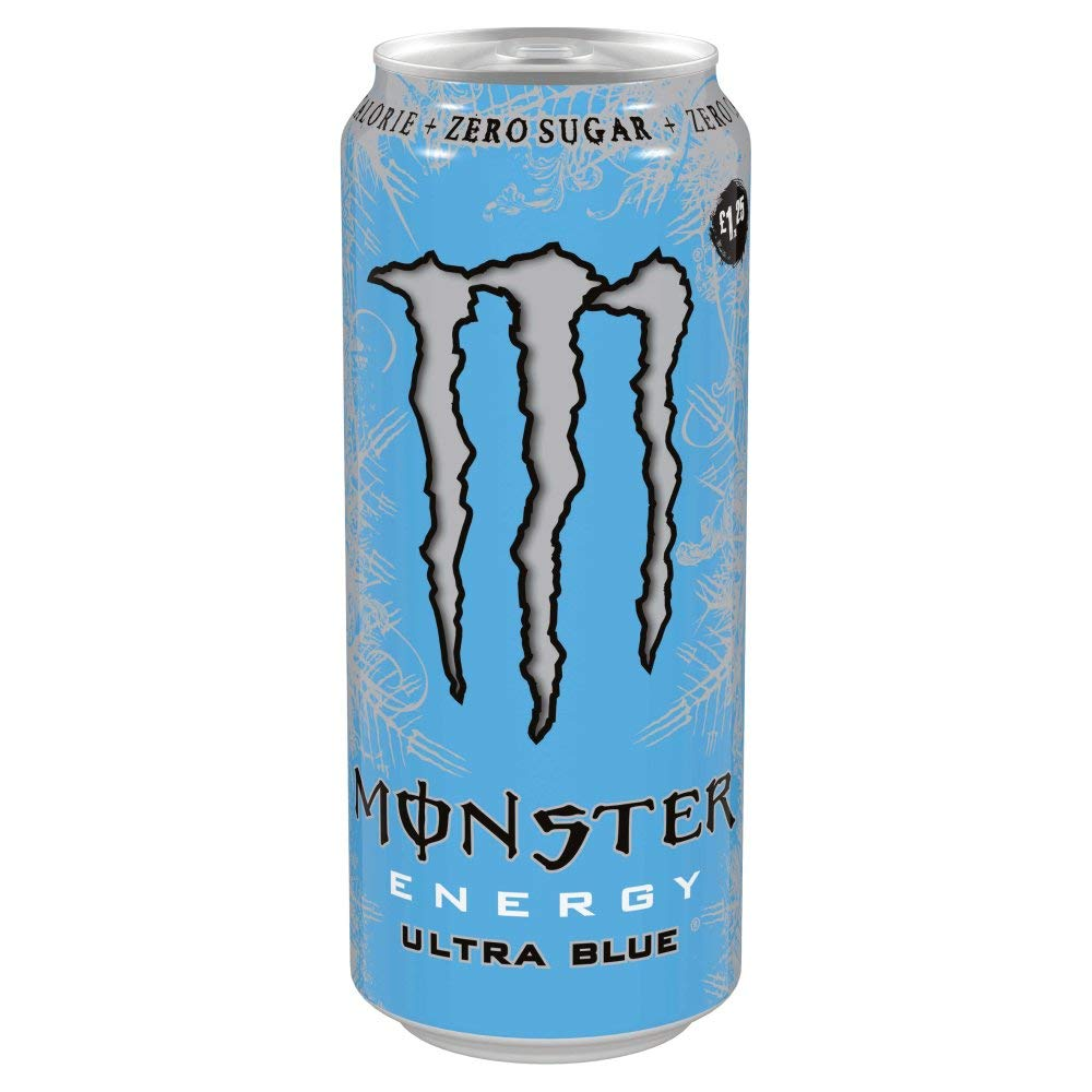 Monster Energy Ultra Blue 12 x 500ml Cans PM £1.25
