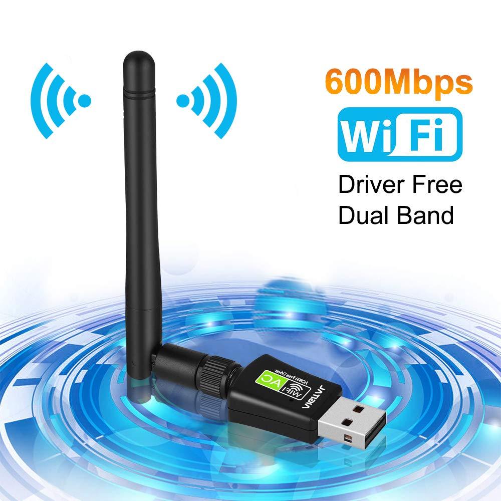 Keine CD Treiber Drahtlos Netzwerk Dongle WLAN Empf/änger f/ür PC//Laptop//Notebook//Desktop unterst/ützt Windows 10//8.1//8//7//Vista Aigital WiFi Adapter 600Mbits WLAN USB Stick Dual Band mit 5dBi Antenne