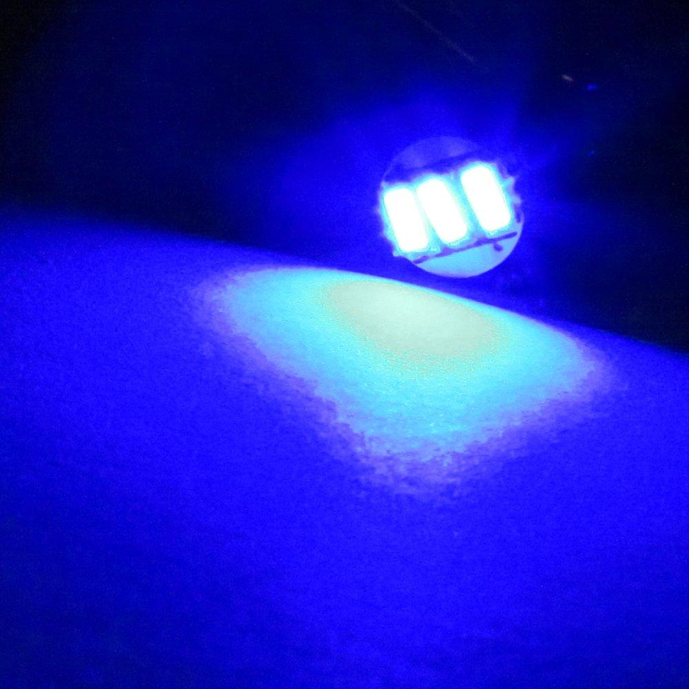 cciyu 20 Pack Blue T5 Wedge 3-3014 SMD LED 74 37 286 18 Dashboard Gauge Light Bulbs 12V w/Twist Socket