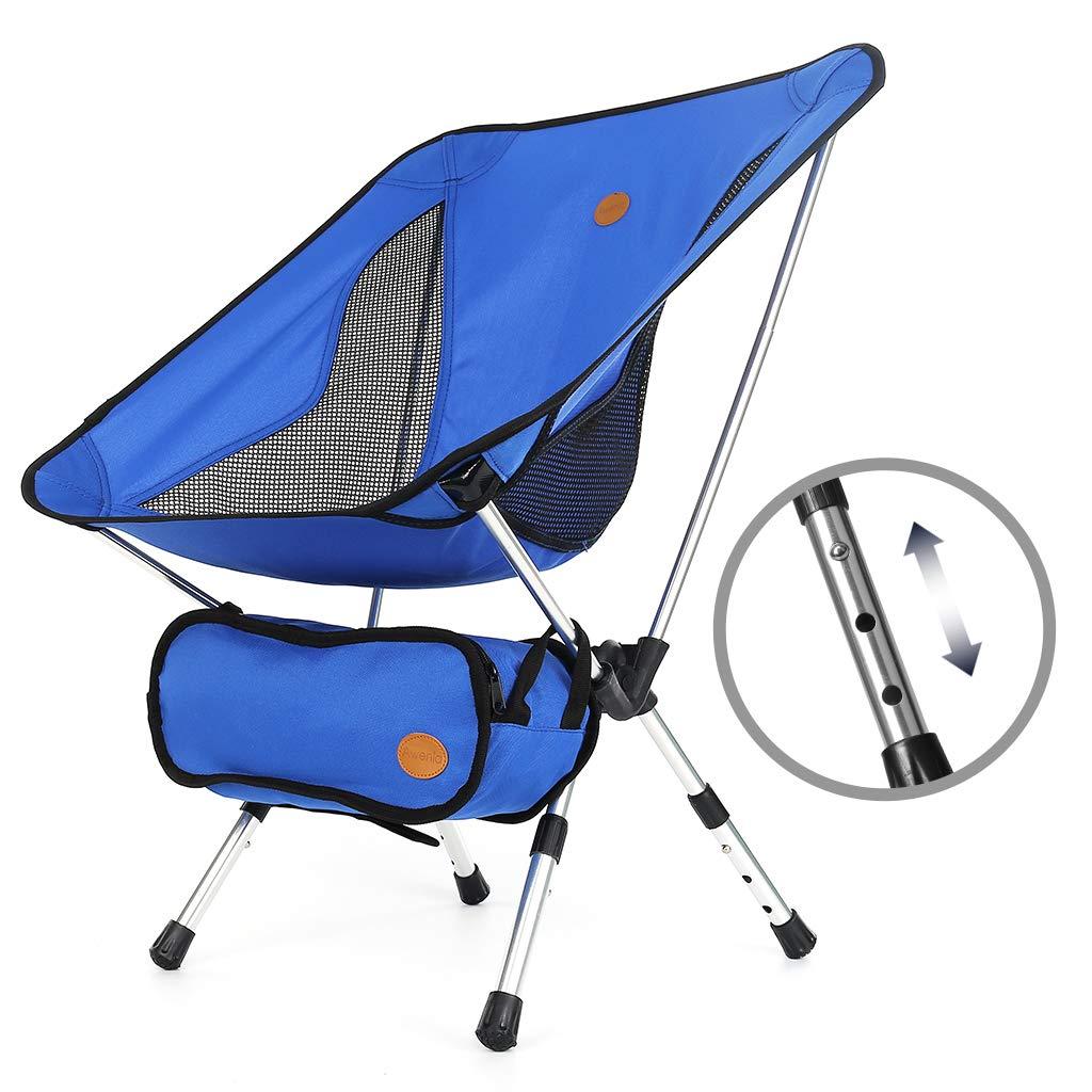 Awenia バックパッキングチェア 軽量ポータブル折りたたみキャンプチェア コンパクト&高耐久 (264ポンド容量) キャンプチェア キャリーバッグ付き アウトドア キャンプ 旅行 ビーチ ピクニック フェスティバル ハイキング ブルー   B07J5JT386