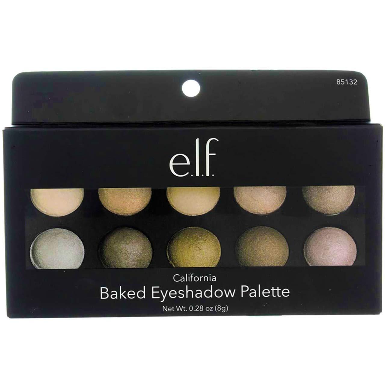 e.l.f. Baked Eyeshadow Palette, California, Net Wt 0.28oz (8g)