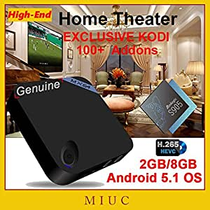 ARBUYSHOP XBMC KODI Fully Loaded MX64 / MXV M8S Pro 2 GB / 8 GB Amlogic S905 Android 5.1 Quad-Core caja de la TV HDMI WiFi 4K H.265 Mini PC [Original]