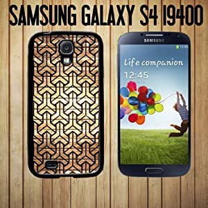 Geometric Design on Wood Custom made Case/Cover/skin FOR Samsung Galaxy S4 - Black - Rubber Case ( Ship From CA)
