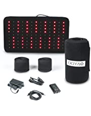 DGYAO® 660nm LED Red Light and 880nm Near Infrared Light Therapy Devices for Pain Reliever Wearable Wrap Deep Penetrating Heals Lighting Pad Relief for Arthritis Feet Joints Muscle Knee Elbow Inflammation Nerve Damage