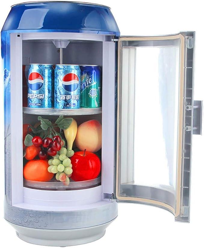 SJZV Bebida Cerveza Vitrina Pequeño Mini Refrigerador Tambor Cola ...