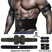 MBODY EMS Muscle Toning Belt ABS Toner Abdominal Workout Belt Body Training Gear Fitness Equipment Full Set for Abdomen/Arm/Leg Training (USB Charging)