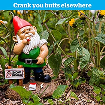 BigMouth Inc. The gNOme Smoking Garden Gnome, Funny Yard Gnome Statue, Collectable Garden Decoration