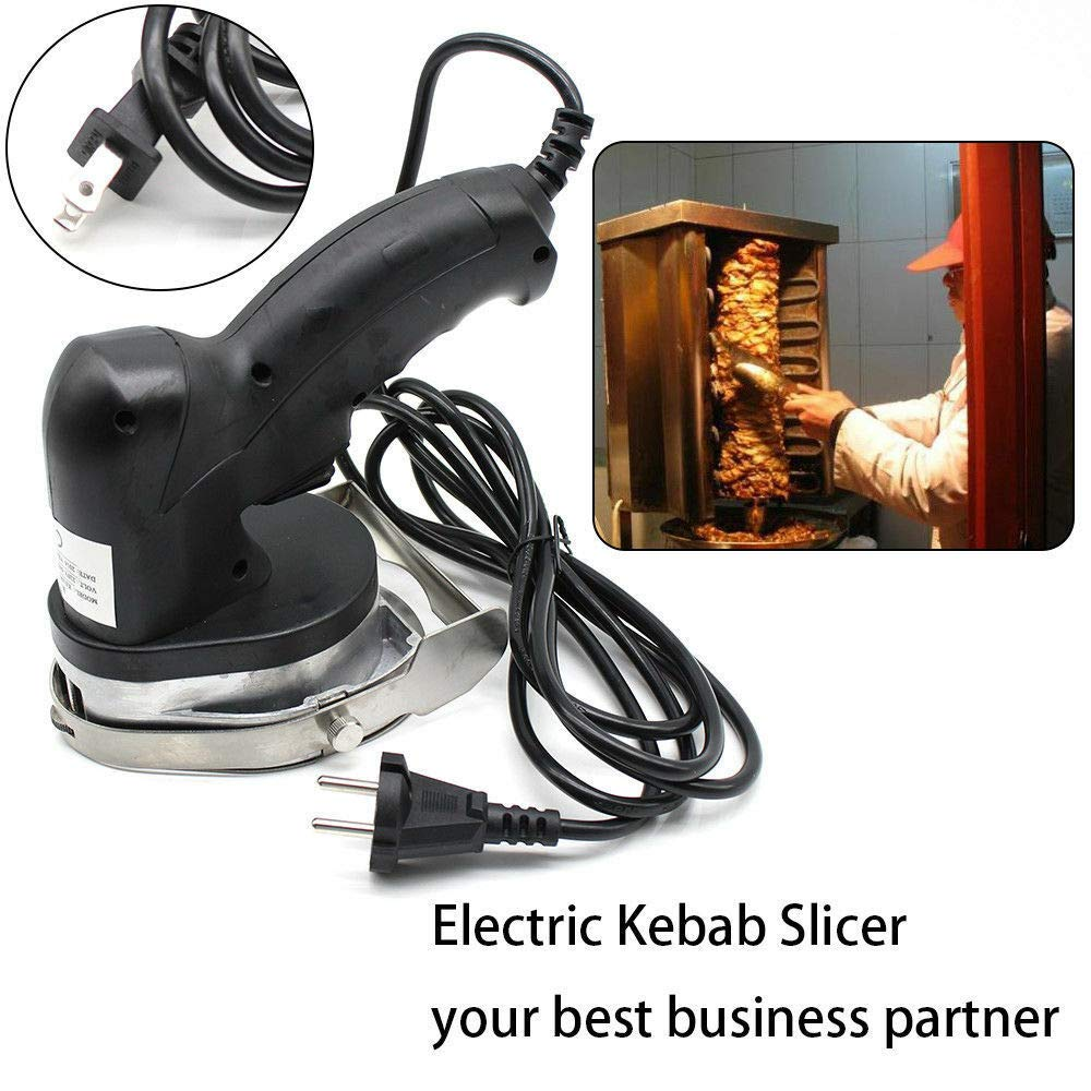 Electric Kebab Slicer, 110V Commercial Electric Kebab Slicer Gyros Cutlery Shawarma Cutter Doner Meat Carver (US Shipping)