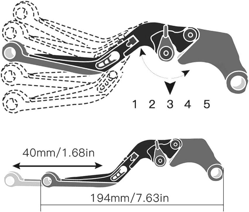 Einstellbar Bremskupplungshebel CNC Aluminium F/ür Suzuki Bandit GSF1200 2001-2006 GSF1250 2007-2015 GSF 600 //600S //650 //650S //650N 2008-2015(Gelb+Schwarz)