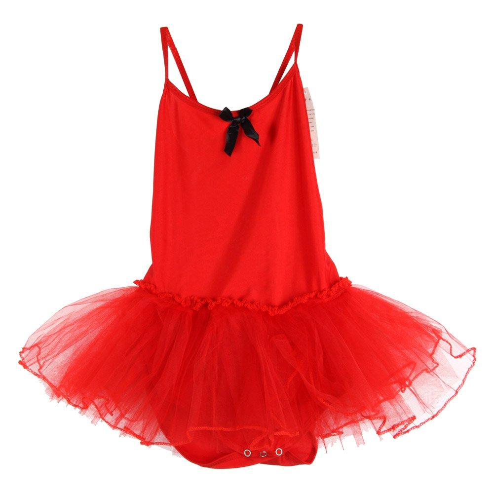 Senza Maniche KISSION Vestiti Bambina Danza 2-11 Anni Bambina Classica Tulle Vestito da Danza 6 Colore Facoltativo
