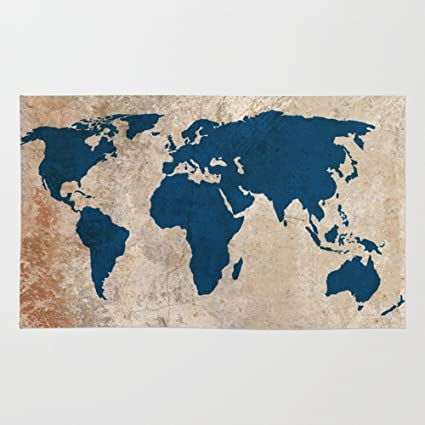 Amazon society6 rustic world map rug 4 x 6 bysamantha society6 rustic world map rug 4 gumiabroncs Images