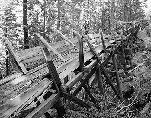 Historic Photo   Lassen Volcanic National Park, Lost Creek Flume, Mineral, Tehama County, CA 2 Photograph 30in x 24in