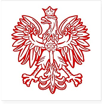 Cafepress polish eagle emblem oval sticker square bumper sticker car decal 3