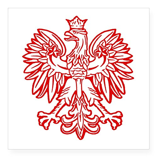 CafePress - Polish Eagle Emblem Oval Sticker - Square Bumper Sticker Car Decal, 3