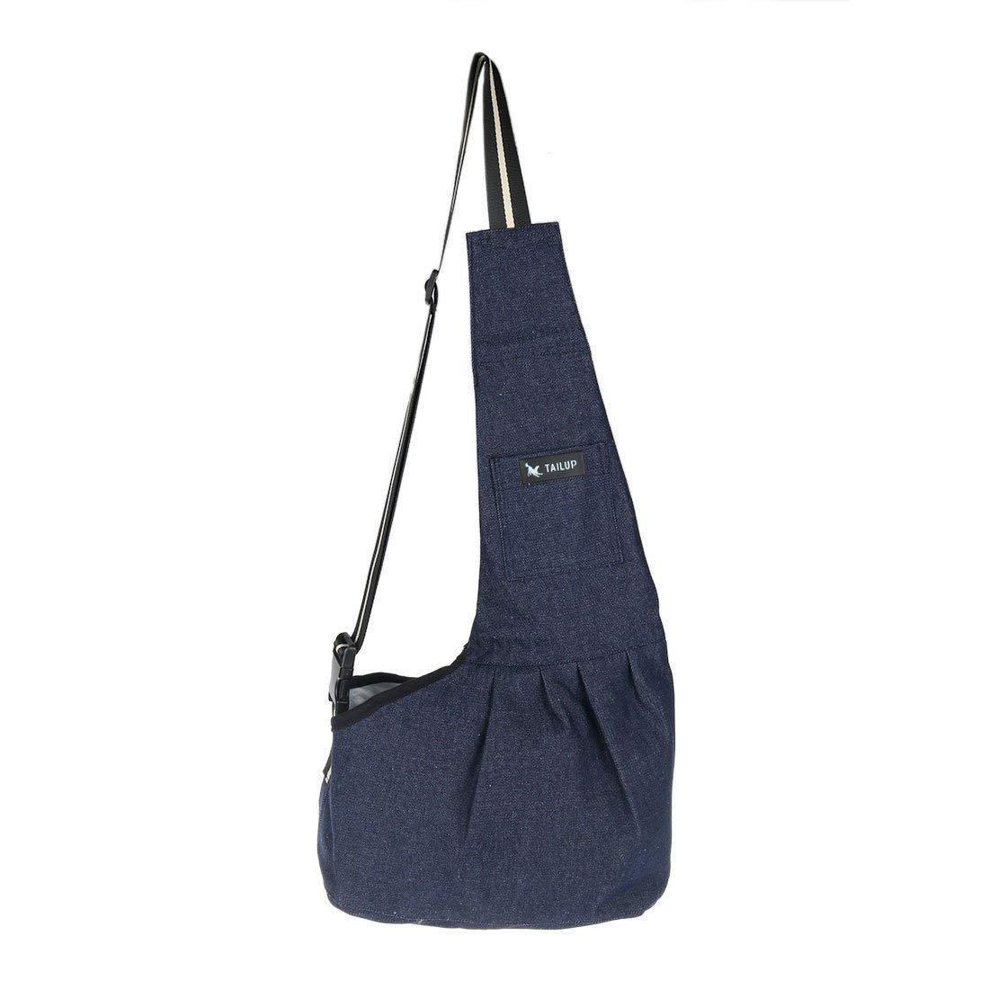 1Pc bluee Foldable Sponge Pet Puppy Travel Carrier Purse Cat Dog Shoulder Bag