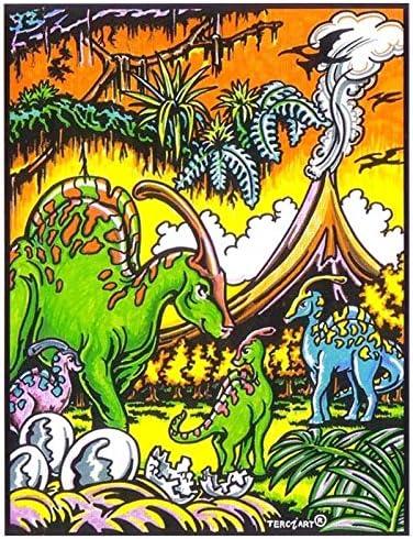 LAMINA PARA COLOREAR con caja de rotuladores. Dinosaurios Pequeños ...