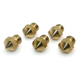 BIQUMK10交換用ホットエンドノズル0.4mm押出機銅ノズル印刷ヘッドreprap1.75mmフィラメント3dプリンター(5入り)