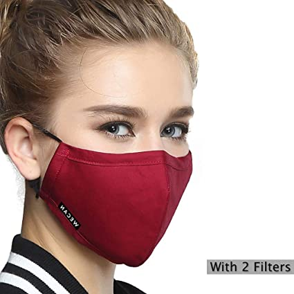 Reusable Cotton one 5 Mask 2 Filters Masks N95 Mouth Pm2