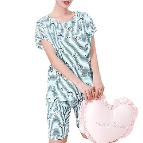 YoungerY Conjunto de Pijamas Coreanos Frescos Pijamas (1 Set) - Sombrero de muñeca Azul