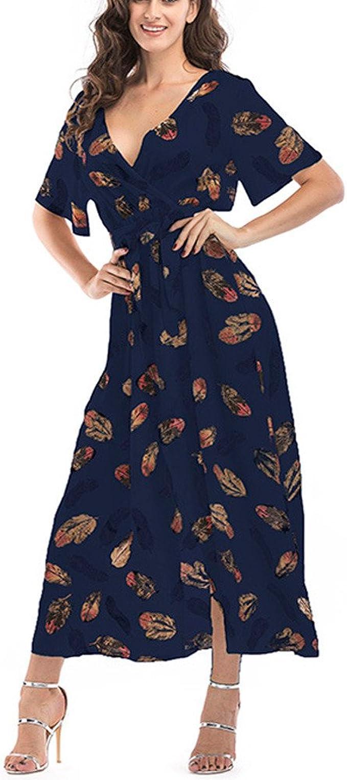 Damark(TM)) Vestidos Mujer Casual Vestido de Verano Largo Maxi ...