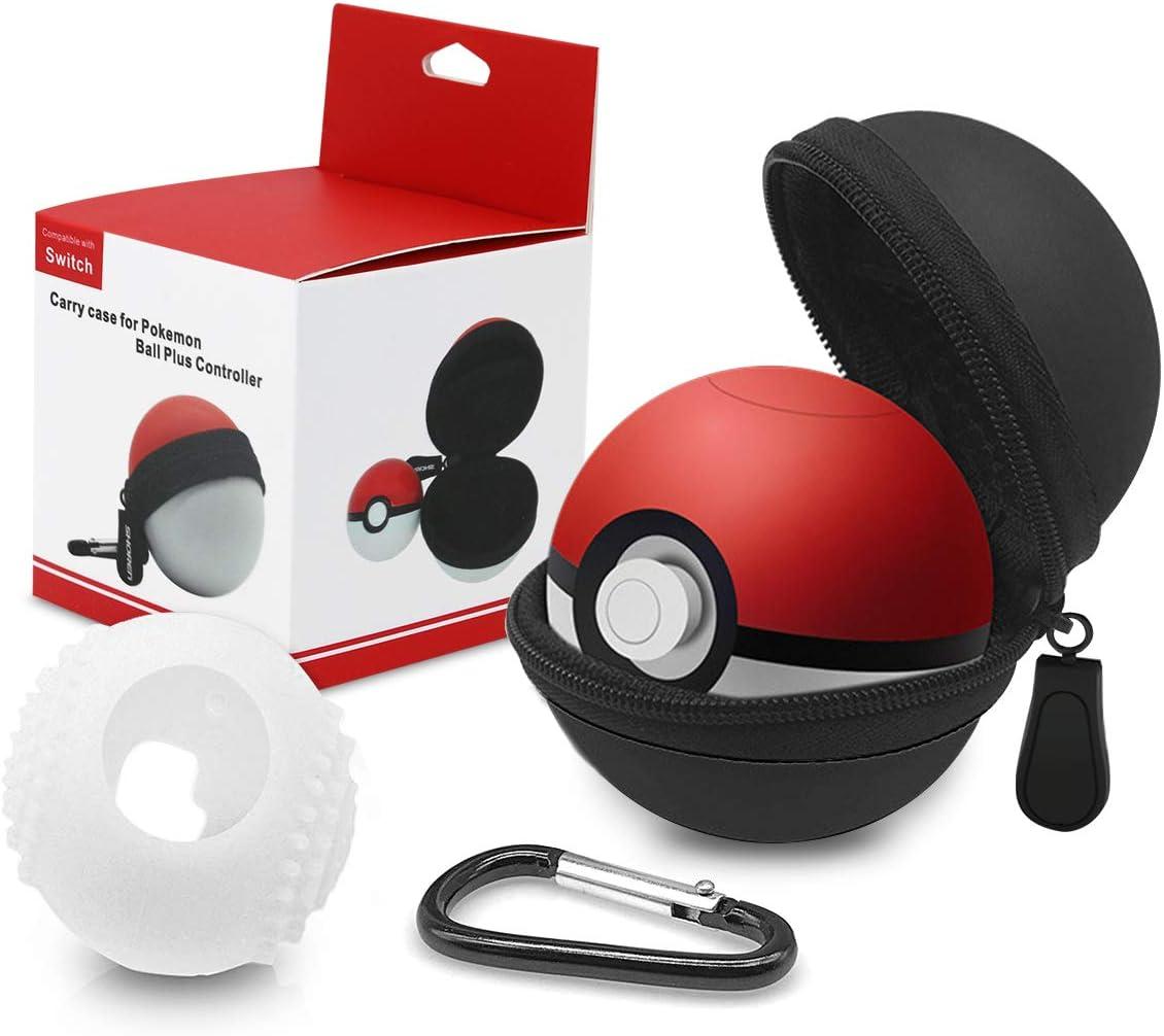 Funda para Pokeball Plus Nintendo Switch Kimood Bolsa para Transportar Pokémon Lets Go Pikachu Eevee Game para Nintendo Switch (Negro Funda de Transporte y Cubierta de Silicona) (PokeBall No Incluida): Amazon.es: Electrónica