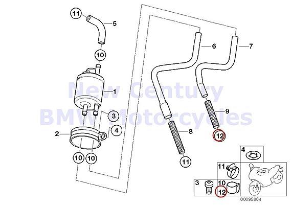 Amazon Com 2 X Bmw Genuine Fuel Distributor Pressure Regulator Hose