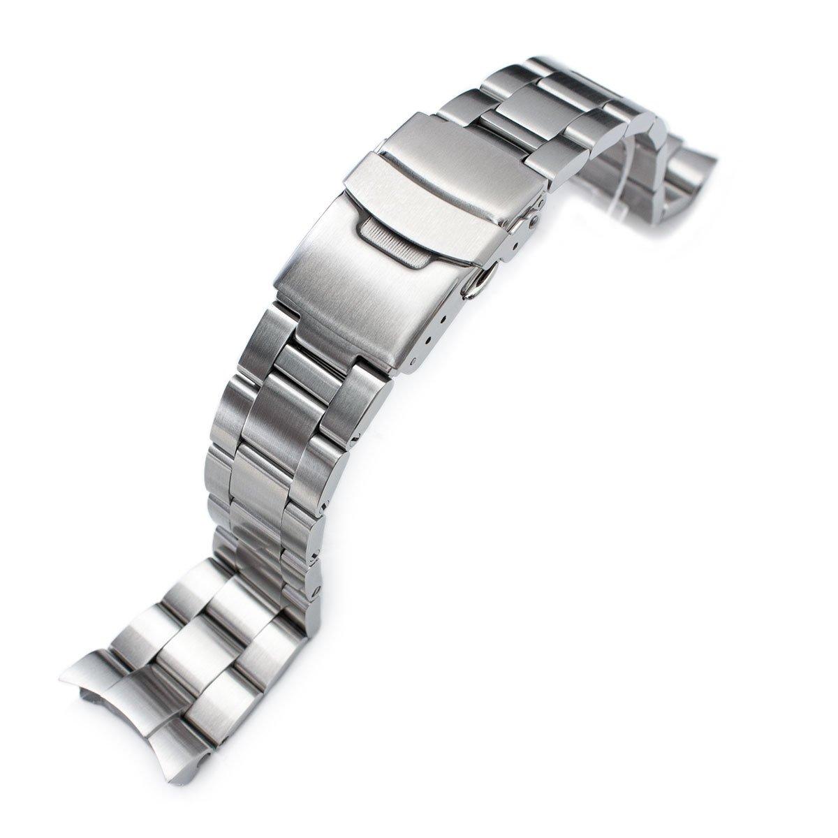 MiLTAT 22mm Watch Band for Seiko SKX007 SKX009 SKX173 SKX175, Super-O Solid Screw-Links