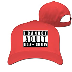 Outdoor I Cant Adult Today Sport Hunting Peak Hat Cap Red