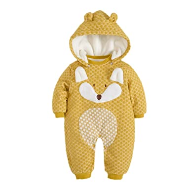 6c5240d56 Amazon.com  Mangka Toddler Baby Girls Boys Snowsuit Bunting Fleece ...
