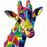 """ifymei Paint by Numbers for Kids - DIY Canvas Oil Painting Gift Kits for Boys and Girls - 16"""" x 20"""" Coloured Giraffe [Without"""