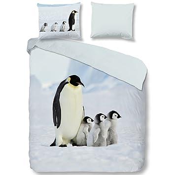 Good Morning Bettwäsche 2051 Pinguin Multi Tiermotiv Größe200x200