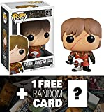 Game of Thrones Thrones Tyrion w/ Scar & Battle Armor: Funko POP! x Vinyl Figure + 1 FREE Official Trading Card Bundle