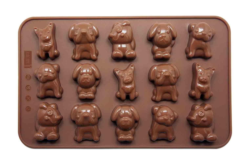 Silicone Gold Perritos Molde bombón, Marron, 23x14x4 cm: Amazon.es: Hogar