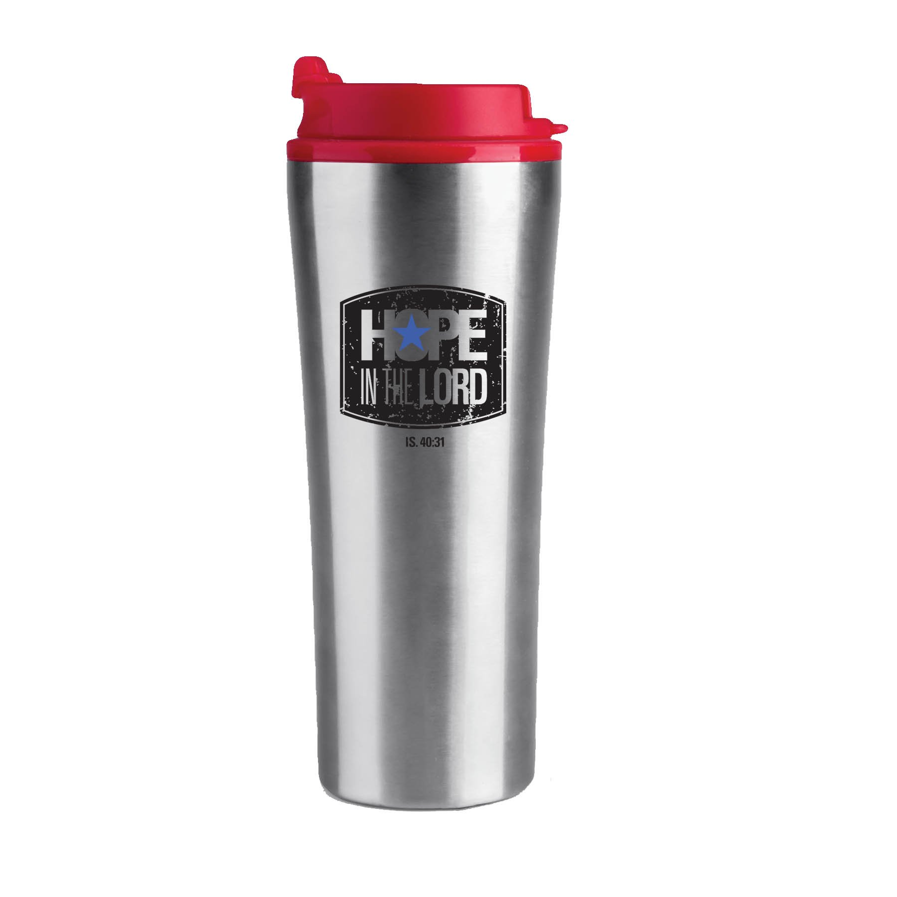 Lighthouse Christian Products He Guides Stainless Steel Tumbler Mug, 16 oz