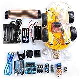 (US) Crenova Robot Car Kit for Arduino, 4 Wheel Bluetooth Utility Vehicle Intelligent Robotics L298N Motor Driver Robot Smart Car kit