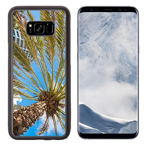 Liili Premium Samsung Galaxy S8 Plus Aluminum Backplate Bumper Snap Case IMAGE ID: 24134104 Palm tree and condos along Ocean Drive in Miami - South Beach Miami Stores