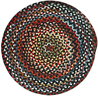"product image for Capel St. Johnsbury Darkest Black 0' 36"" Round Braided Rug"