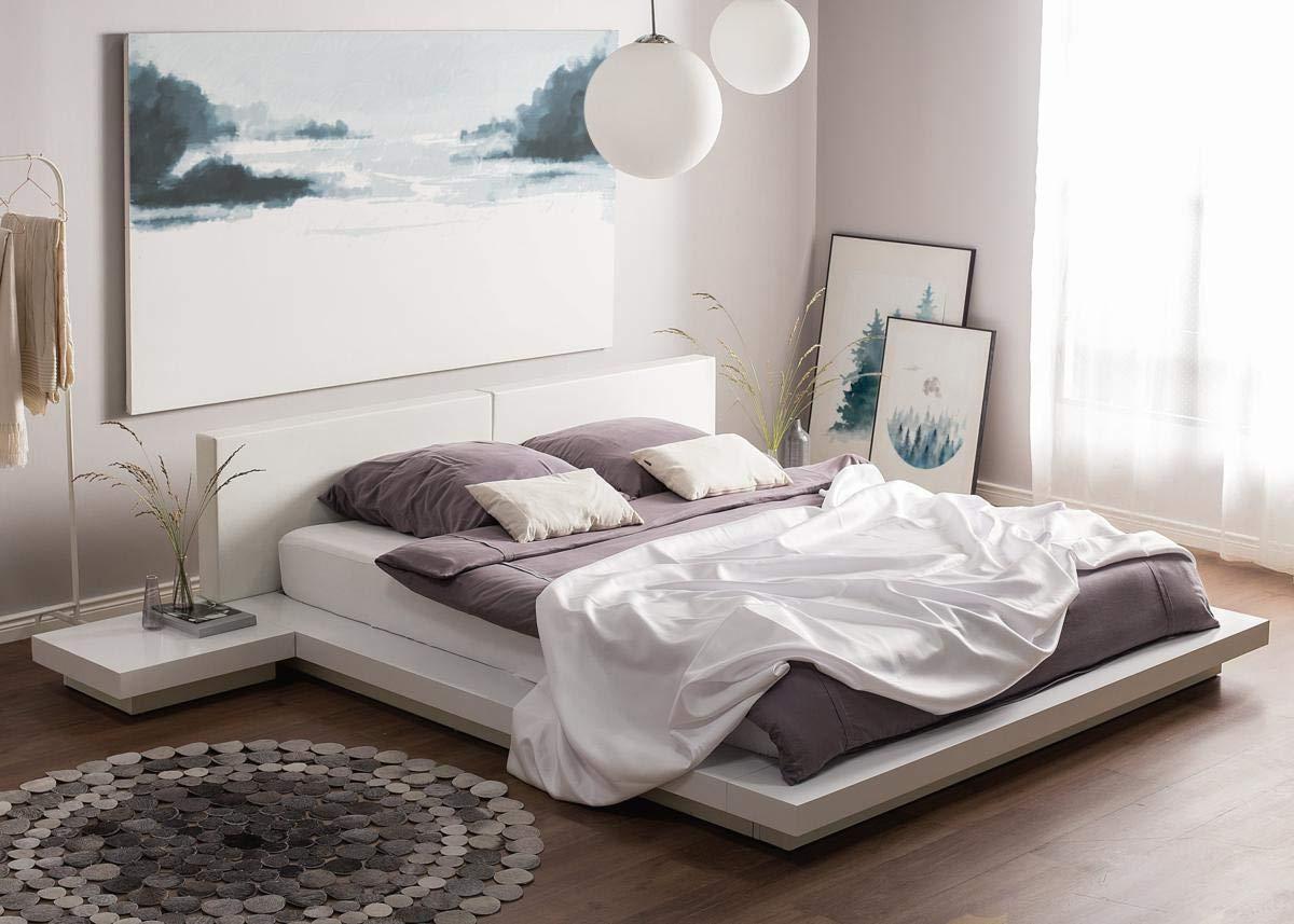 supply24 Designer Bett Japan Stil Flaches massives Futonbett ...