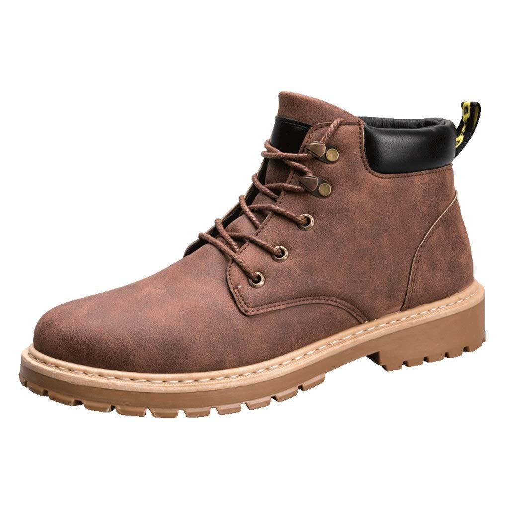 ChengxiO [dünn Baumwolle optional] Schnee Stiefel Herren Winter Winter Winter Plus samt warme Baumwolle Schuhe Retro hoch zu helfen Outdoor Sport Schuhe Werkzeuge Martin Stiefel männer 82a5fc