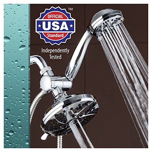 AquaDance 6-inch High Pressure 3-way Rainfall Shower Combo -