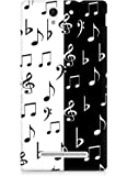 Amez designer printed 3d premium high quality back case cover for Sony Xperia C3 D2502 (Black and White)