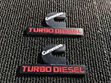 2 PC NEW DODGE RAM 1500 2500 3500 BLACK CUMMINS TURBO DIESEL FENDER LOGO EMBLEM