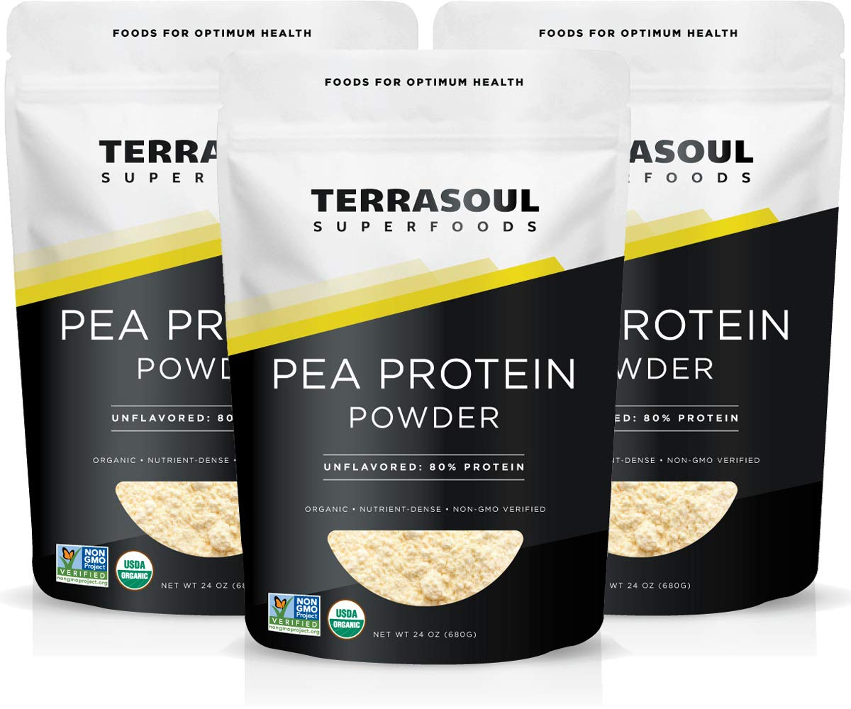 Terrasoul Superfoods Organic Pea Protein, 4.5 Lbs 3 Pack