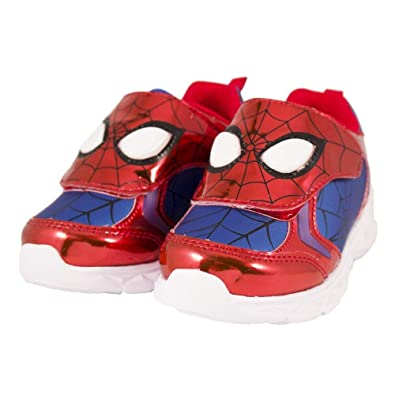 b0520c30d11c6 Favorite Characters Baby Boy's Spider-Man Athletic SPF366 Lighted  (Toddler/Little Kid)
