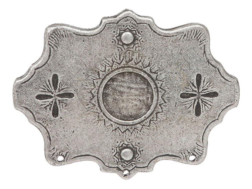 MONIQUE Women Western Snow Flakes Antique Metal Finish 1.5 Wide Belt Buckle