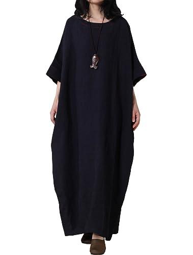 Vogstyle Damen Flügel Hülse Plus Größen Maxi Kleid